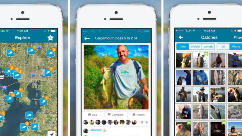 Fishbrain app med GPS